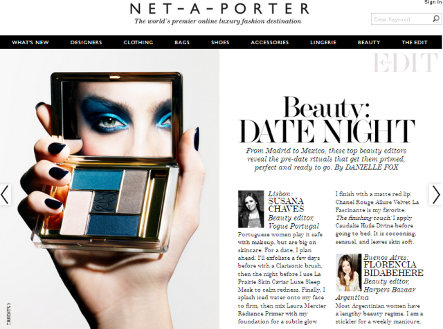 Beauty Airlines Net a Porter