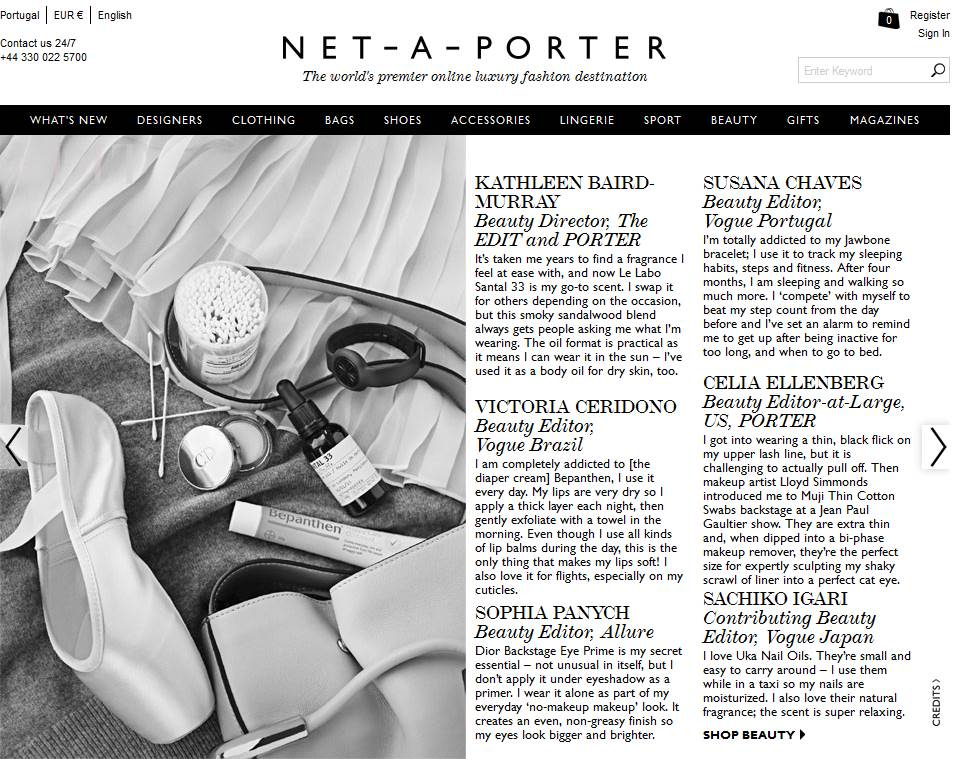 Beauty Airlines on Net a Porter