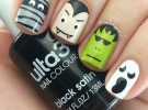 unhas halloween ghost